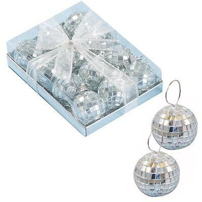 Christmas Tree Decoration Mirror Ball Baubles - 12 Pack 35mm