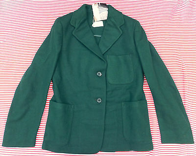 "Girls vintage green blazer UNUSED school uniform Chest 30"" 32"" Swan Lake 1950s"