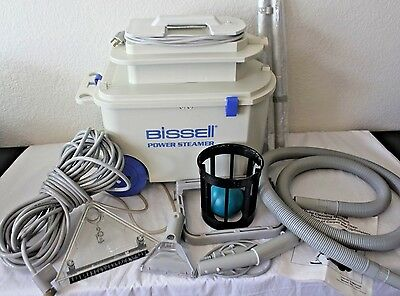 BISSELL POWER STEAMER DELUXE 1631/1631-1 Complete Carpet Cleaner Extractor Auto