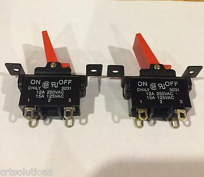 2Pcs Dpst On Off 15A 125Vac (12A 250Vac) Large Toggle Switch High Quality