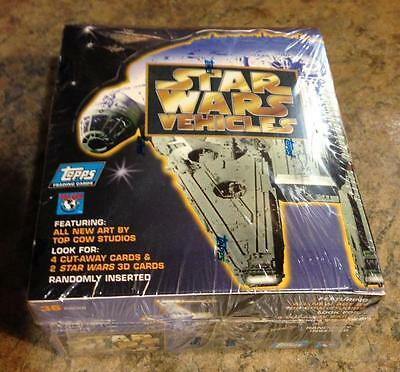 Star Wars Vehicles trading cards sealed box of 36 packs from Topps 1997