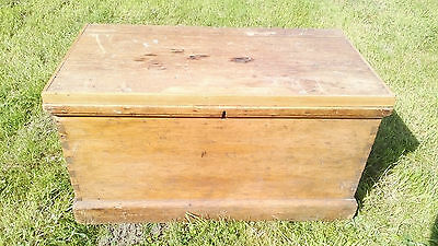 Antique Victorian Pine Chest Coffee Table etc