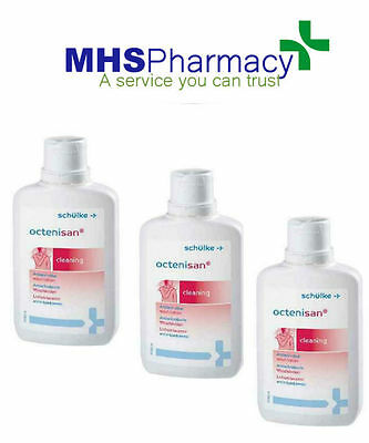 3 X Octenisan Wash Lotion 150ml Antiseptic,Cuts,Wounds,Bruises Suits All Skin