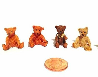Miniature Scale Dolls House Little Tiny Mini Cute Small Brown Teddy Bears 2cm