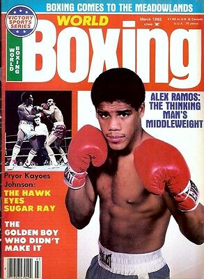 WORLD BOXING Magazine MARCH 1982 AlexRamos Pryor The Hawk Meadowlands