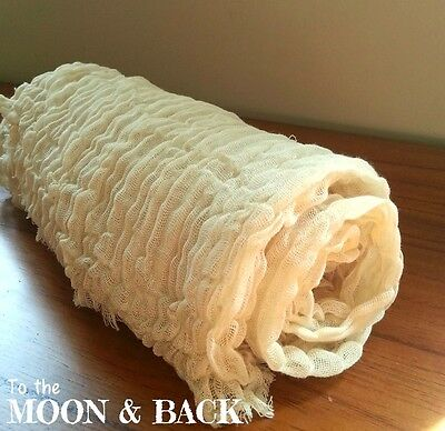 Hand Dyed Cream Cheesecloth Newborn Baby Wrap. Photography photo prop