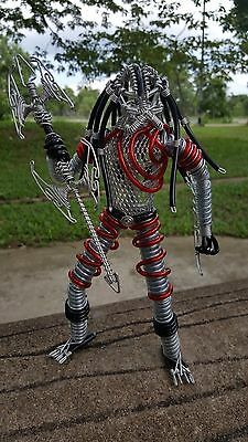 Predator Model Thai Handmade Alien Chain Arbalest Art Statue Wire