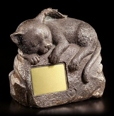 Cats Urn with cats Figurine and Engraving plate - Animal urn