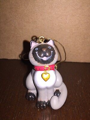 Vintage Siamese Cat Christmas Ornament-Adorable!