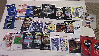 Lot of 25+ Atari 2600 Game Manuals Booklets Lots Advertisments Ads Catalogs