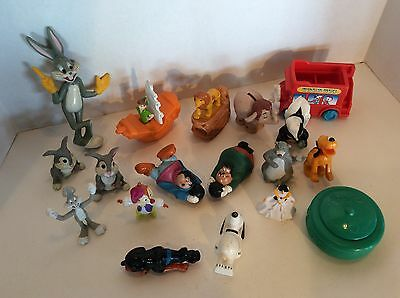 Lot of 18 Vintage Toys Disney Looney Tunes Bugs Bunny Piglet Lion King Snoopy