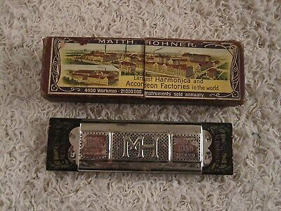 Vintage Antique Matth. Hohner 146 Marine Band Tremolo Harmonica In Original Box