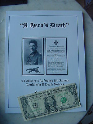 Fantastic OUT-OF-PRINT WWII Book on German Death Cards, Brand New Condition Gift