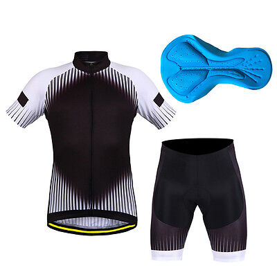New Mens Cycling Bike Short Sleeve Clothing Bicycle Set Suit Jersey+Shorts ZC
