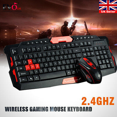 2.4G gaming wireless keyboard and mouse combo set Multimedia game kit for PC
