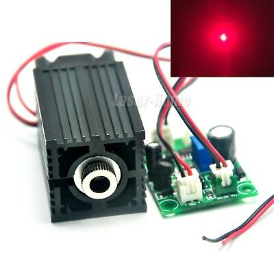 500mW 635nm 638nm Red Focusable Dot 12V Laser Diode Module w/ Driver & TTL & Fan