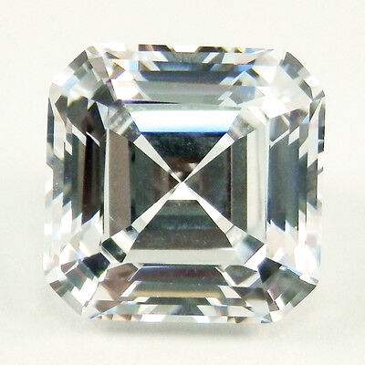 1.5 ct (6.5mm) Asscher D Color MyRussianDiamond Simulated Lab Created LooseStone