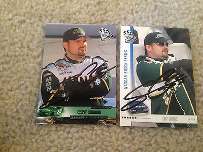 Lot Of 2 Signed Autograph Cards Nascar  Coy Gibbs