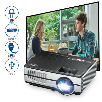 1500Lumens LCD LED Mini Projector Cinema Outdoor Movie HD 1080P HDMI VGA USB AV