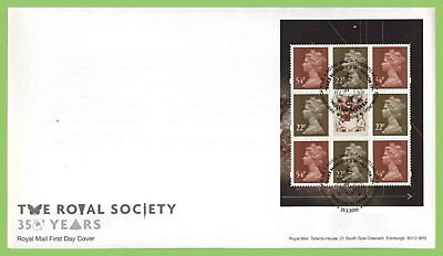 G.B. 2010 The Royal Society booklet pane u/a  Royal Mail First Day Cover