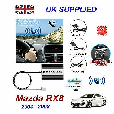 Mazda RX8 Bluetooth Hands Free Phone AUX Input MP3 USB 1.0A Charger Module 04-08