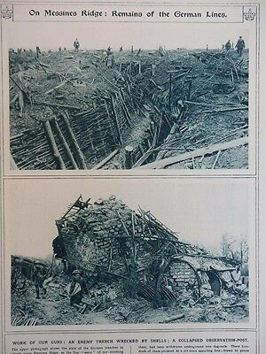 1917 Remains Of German Trenches At Messines Ridge; Japanese Destroyers Wwi Ww1