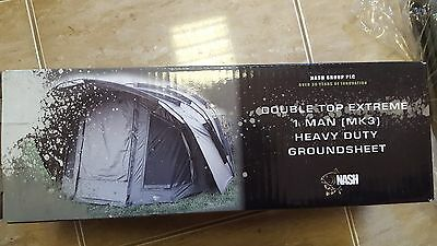 Nash Double Top Extreme 1 Man (MK3) Heavy Duty Ground Sheet Brand New