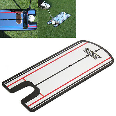 1x Golf Putting Mirror Alignment Training Aid Swing Trainer Eye Line Portable