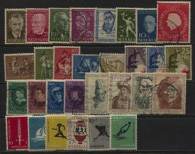Netherlands 1954 - 1956 Mint / Used Collection Mostly Semi Postals CV $63.55