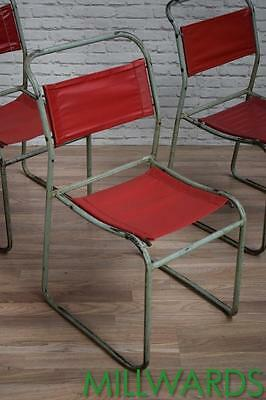 Vintage Industrial Stacking Stackable Dining Cafe Bar Chairs 16 AVAILABLE