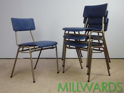 FREE DELIVERY Vintage Stacking Industrial Remploy School Cafe Bar Chairs