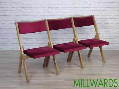 15 AVAILABLE Row of Vintage Folding Wooden Cinema Theatre Cafe Bar Seats Chairs