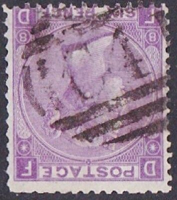 GB Used Abroad in GUAYAQUIL ECUADOR C41 6d. violet pl.8.