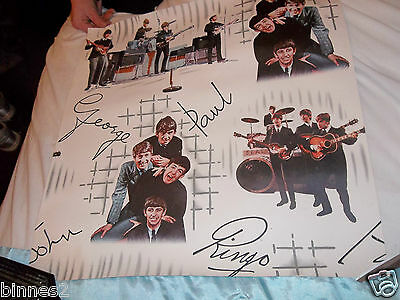 The Beatles Official  Wallpaper Genuine Original Item  From 1964  Awesome