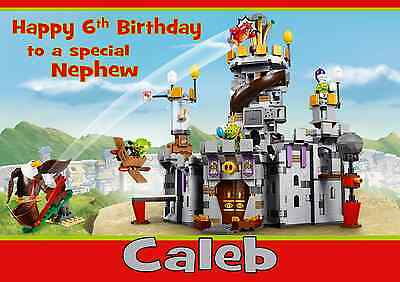lego star wars personalised A5 birthday card son brother grandson nephew name
