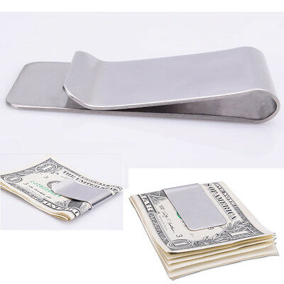 New High Quality Slim Money Clip Credit Card Holder Wallet Stainless Steel