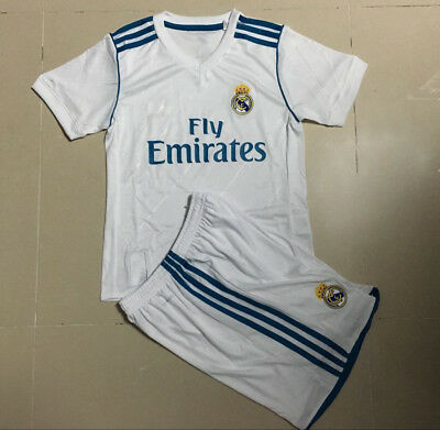 Children's Real Madrid 2016/17 Soccer Jersey Set Football Kids Clothes Shorts