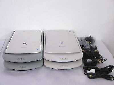 4 x HP ScanJet A4 Flatbed Document Scanners 2400 / G2410 + PSU and USB *Working*