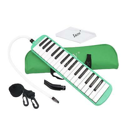 32 Piano Keys Melodica for Beginner Kids Children Gift with Bag Green F7Y7