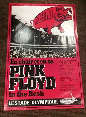 "PINK FLOYD 'In the Flesh' Montreal Olympic Stadium Concert Poster 24"" X 36"""