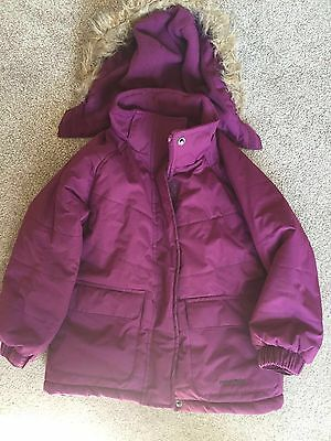 Girls, Purple, Mountain Life, Detachable Hood, Zipped, Jacket. Age 3-4 yrs