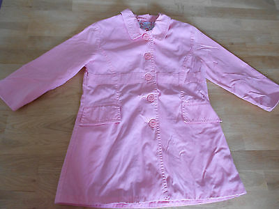 Girls, M&S, Pink with Floral Print, Collar/Pocketed, Lightweight Mac. Age 3-4yrs