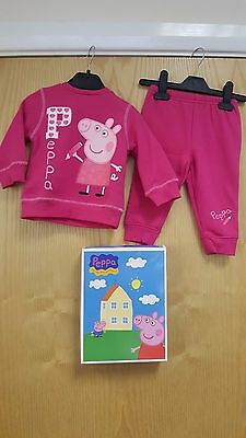Pink Peppa Pig Suit Boxed  12/ 18 Months