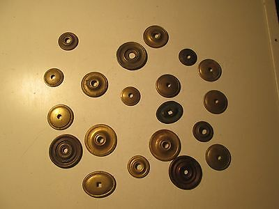 Antique Lot of 20 Cabinet Knob Backplates Only Drawer Pull Sheraton Style S43