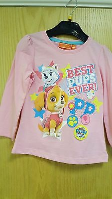 Paw Patrol  Long Sleaved T-Shirt  3 / 4 /  5  / 6 Years