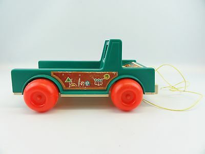 Fisher Price #994 Play Family Camper Truck Vintage 1973 Little People Pull Toy