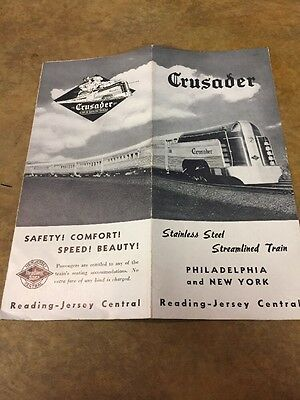 """Brochure - Reading - New Jersey Central Railroad """"Crusader"""" 1937"""