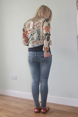 Fashionably Pregnant Maternity Skinny Jeans Over the Bump Sizes 8 10 12 14