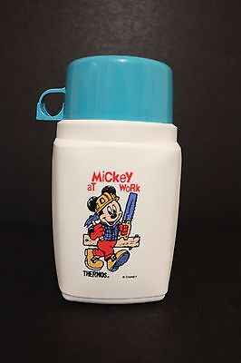 Unusual Disney Mickey Mouse Vintage Flask Thermos Roughneck