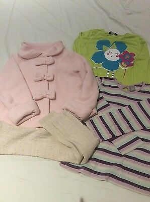 Next Pink Fleece Jacket Girls Clothes Bundle, Barely Worn Or New, Age 3/4